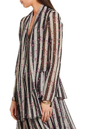 LANVIN Printed silk-chiffon blouse