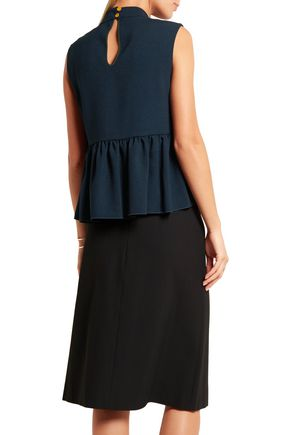 ROKSANDA Elda stretch-crepe peplum top