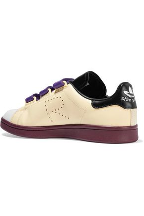ADIDAS ORIGINALS + Raf Simons Stan Smith color-block perforated leather sneakers