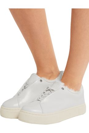 EYTYS Doja Arctic faux fur-lined leather sneakers