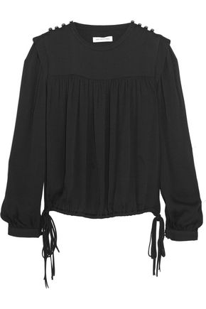 ISABEL MARANT ÉTOILE Nathael gathered crepe top