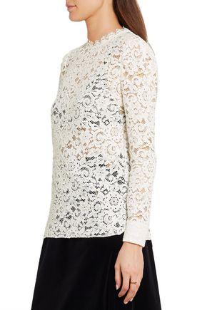SAINT LAURENT Cotton-blend guipure lace blouse