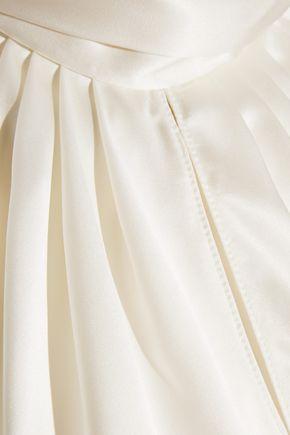 SAINT LAURENT Silk-satin halterneck top