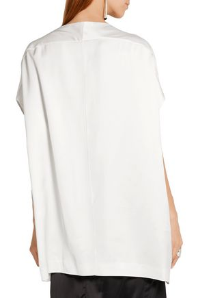 JIL SANDER Oversized twill top