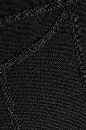 BALMAIN Lace-paneled stretch-jersey bodysuit