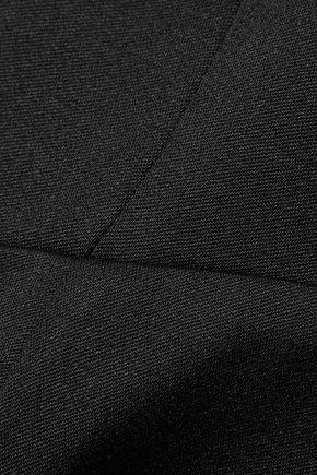 ESTEBAN CORTAZAR Asymmetric wool-crepe peplum top