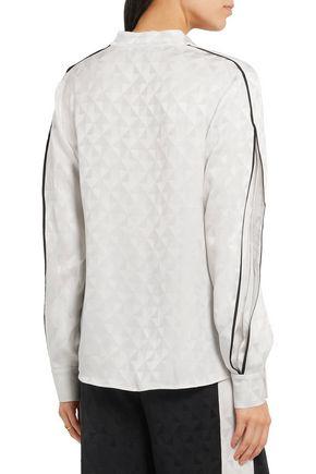 ZEUS + DIONE Hera silk-jacquard blouse