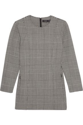 THEORY Laurent checked stretch-wool top