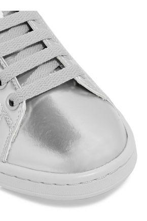 ADIDAS ORIGINALS + Raf Simons Stan Smith perforated metallic leather sneakers