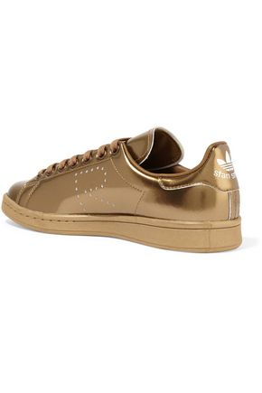 ADIDAS ORIGINALS + Raf Simons Stan Smith perforated metallic leather sneakers