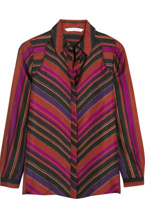 DIANE VON FURSTENBERG Chrissie printed silk-twill blouse