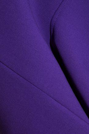 VICTORIA, VICTORIA BECKHAM Draped stretch-wool crepe peplum top