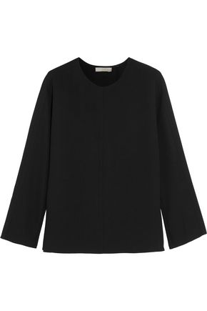 VINCE. Split-back cady blouse