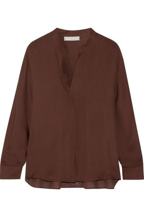 VINCE. Silk-georgette blouse