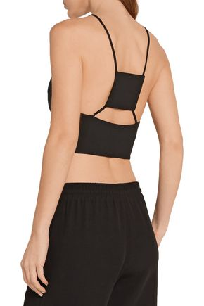 ROSIE ASSOULIN Cutout stretch-wool bustier top