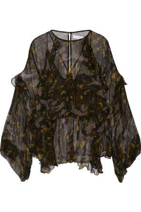 IRO Lixine ruffled printed chiffon blouse