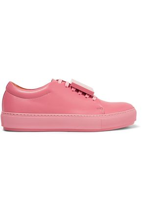 ACNE STUDIOS Adriana plaque-detailed leather sneakers