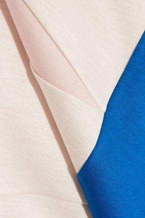 DELPOZO Color-block neoprene turtleneck top