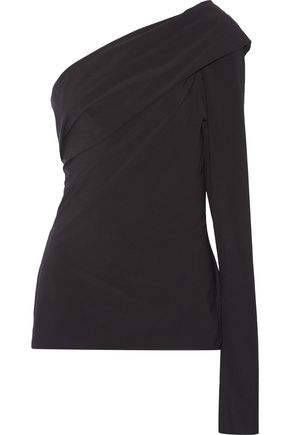 JIL SANDER Balki one-shoulder tech-jersey top
