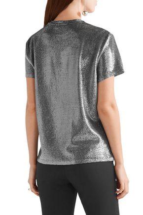 ELLERY Damsel metallic knitted top
