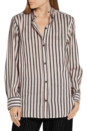 ISABEL MARANT Striped ramie and silk-blend shirt