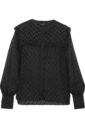 ISABEL MARANT Polka-dot fil coupé blouse