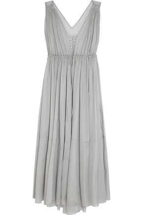 THREE GRACES LONDON Medee cotton-mousseline maxi dress