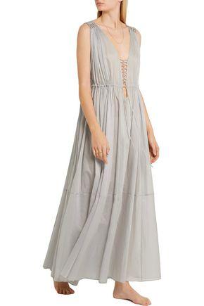 THREE GRACES LONDON Medee cotton-mousseline maxi dress