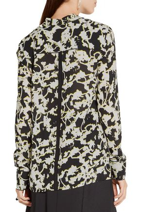 PROENZA SCHOULER Printed silk-georgette blouse