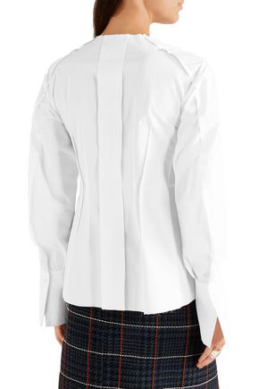 JOSEPH Frank pintucked cotton-poplin shirt