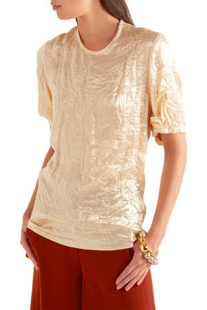 JOSEPH Harrison crinkled-satin top