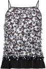 MOTHER OF PEARL Nita fringed pleated embellished voile top