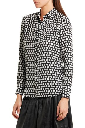 SAINT LAURENT Polka-dot silk shirt