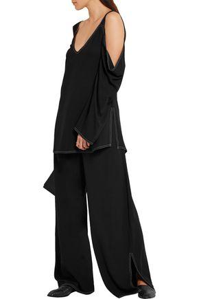 BEAUFILLE Mab cutout piqué blouse