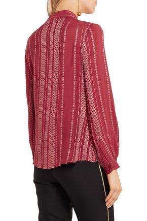ZEUS + DIONE Hera silk-blend jacquard blouse