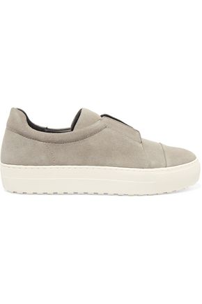 ATELJÉ 71 Textured-leather slip-on sneakers