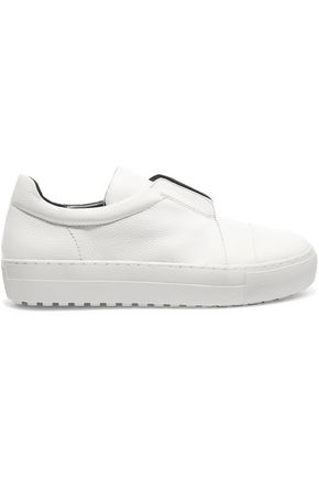 ATELJÉ 71 Emery textured-leather slip-on sneakers