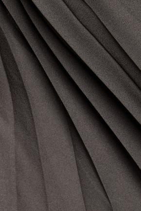 HALSTON HERITAGE Halston asymmetric pleated crepe top