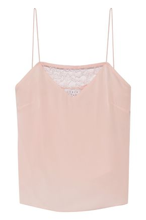 TANYA TAYLOR Willow lace-trimmed stretch-silk camisole