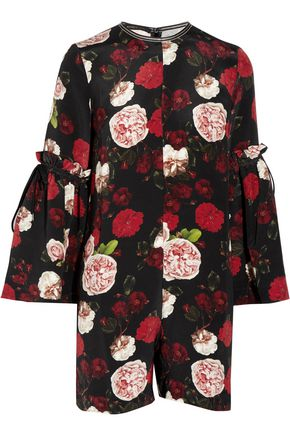 MOTHER OF PEARL Curtis floral-print silk playsuit