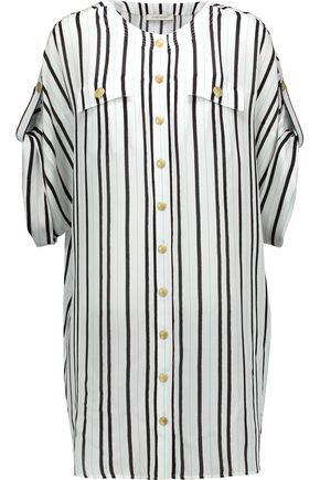 PIERRE BALMAIN Striped silk shirt