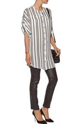 PIERRE BALMAIN Striped silk shirt