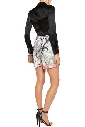 OSCAR DE LA RENTA Cotton-blend jacquard shorts