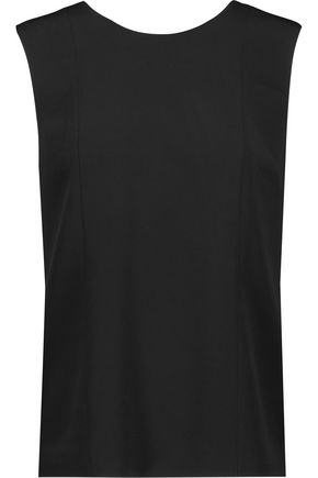 ALEXANDER WANG Chain-trimmed crepe top