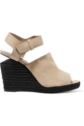 ALEXANDER WANG Tori textured-suede espadrille wedge sandals