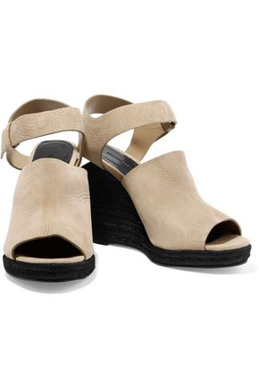 ALEXANDER WANG Tori textured-suede espadrille wedge sandals