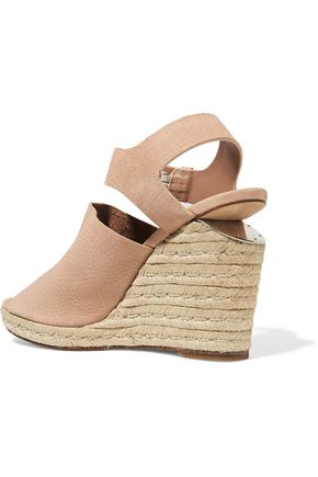 ALEXANDER WANG Tori nubuck espadrille wedge sandals