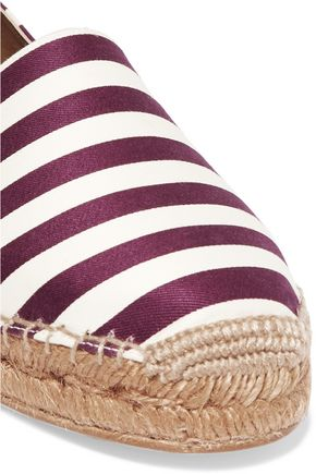 DOLCE & GABBANA Striped canvas espadrilles
