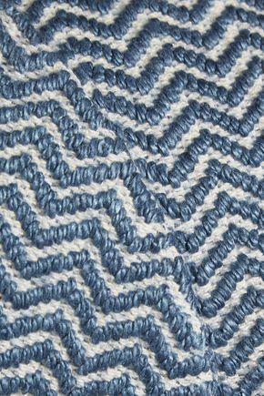 ALICE + OLIVIA Sarina cropped zigzag jacquard top