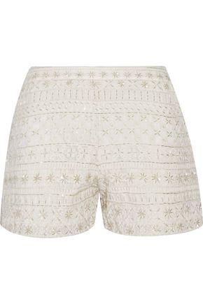 ALICE + OLIVIA Susi embellished tulle shorts